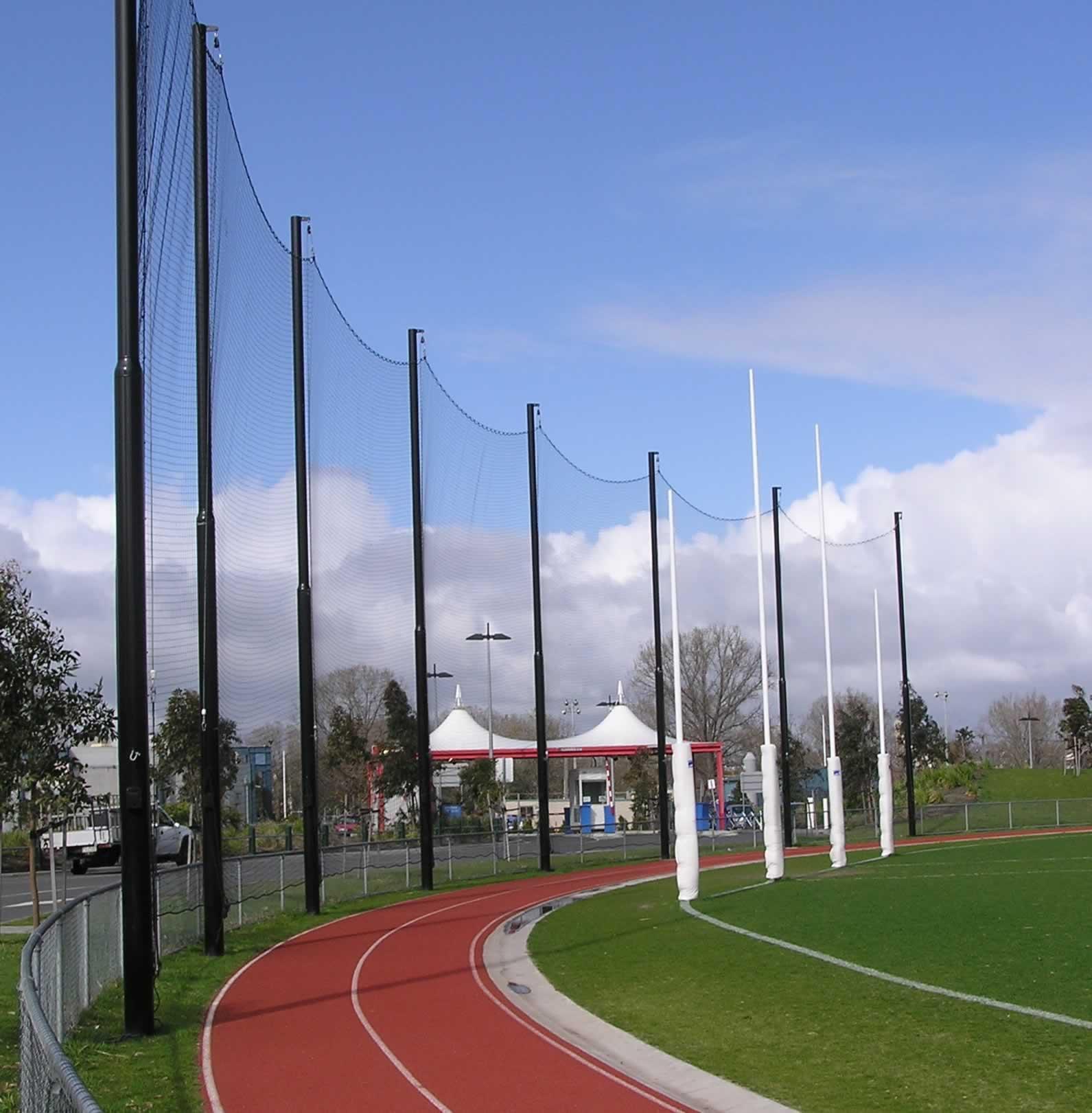 Behind Goal Netting