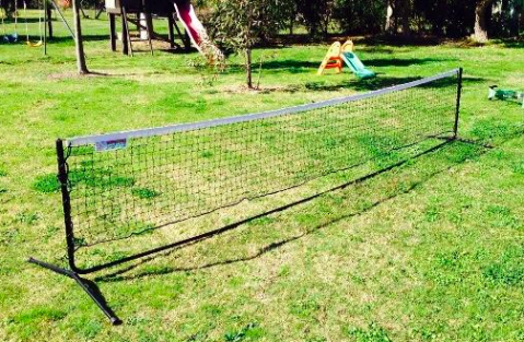 Mini Tennis Net example - great for the backyard